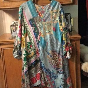 Johnny Was Silk Floral Tunic or Dress
